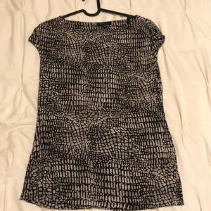 AK Anne Klein-Tan/Black print-Medium